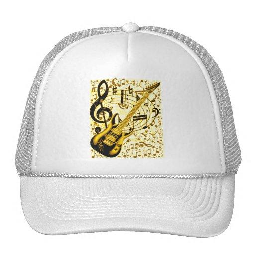 Guitar_ de oro gorros bordados