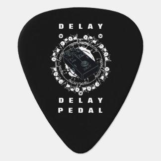 Guitar Delay Pedal,Black Guitar Pick