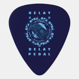 Guitar Delay Pedal,Blue Guitar Pick