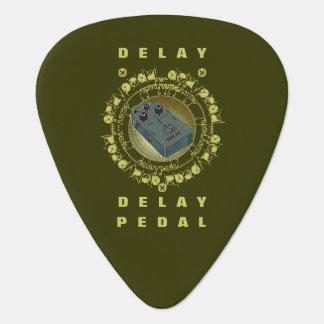 Guitar Delay Pedal Green Rays Guitar Pick