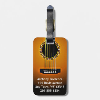 Guitar Design Luggage Tags