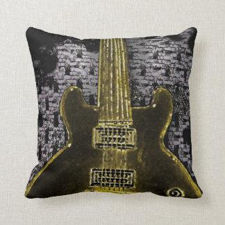 Guitar Design on Pillow