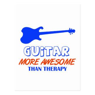 guitar design postcard