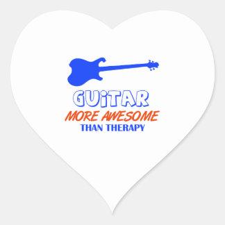 guitar design heart stickers