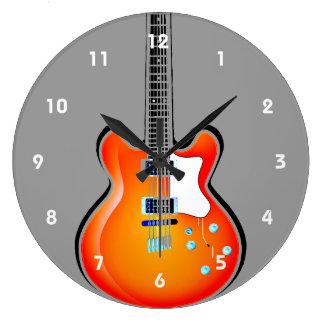 Guitar Design Wall Clock