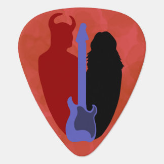 Guitar, Devil, and Girl Guitar Pick