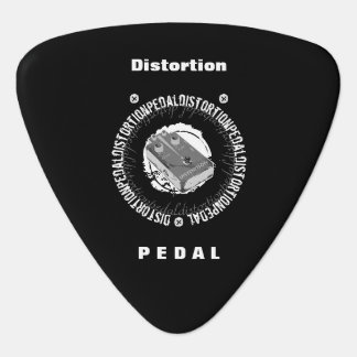 Guitar Distortion Pedal, Black and White Guitar Pick