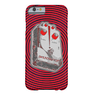 Guitar Distortion Pedal -Red/Grey Barely There iPhone 6 Case