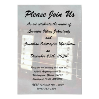 guitar electric music grunged background 5x7 paper invitation card