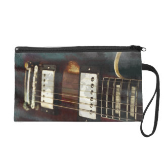 guitar electric music grunged background wristlet purses