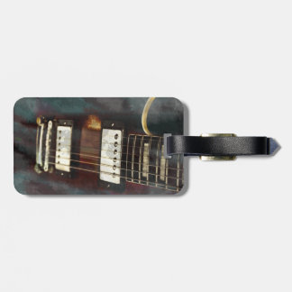 guitar electric music grunged background bag tags