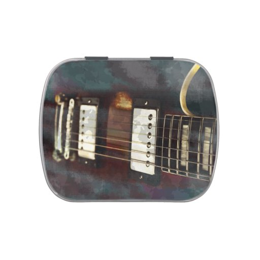guitar electric music grunged background candy tin