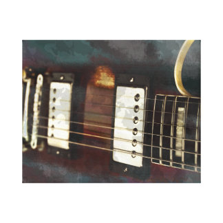 guitar electric music grunged background gallery wrap canvas