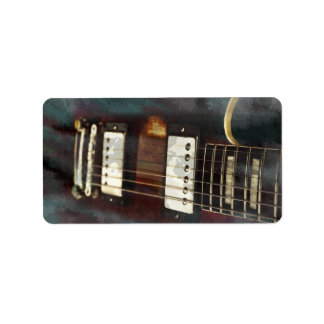 guitar electric music grunged background personalized address labels