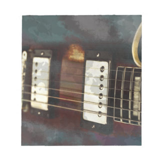 guitar electric music grunged background memo pad
