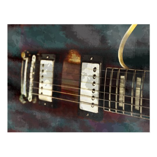 guitar electric music grunged background postcard