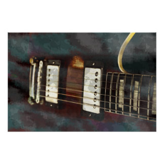 guitar electric music grunged background print
