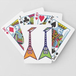Guitar Electro Bicycle Playing Cards