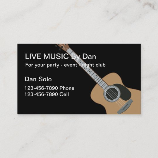 Guitar entertainer business cards zazzle guitar entertainer business cards colourmoves