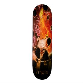 Guitar Eruption Skateboard Deck