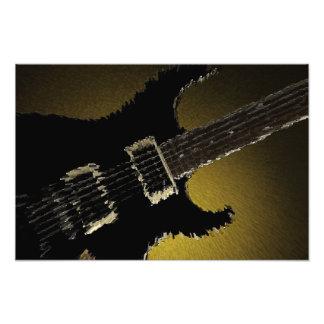 Guitar Explosion Art Photo