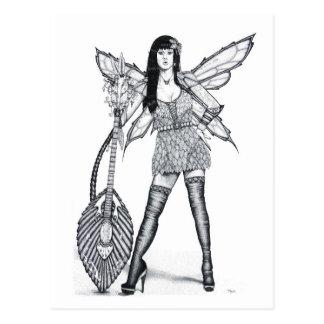 Guitar Fairy - Blank Postcard