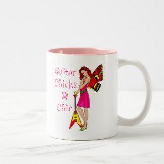 Guitar Fairy Two-Tone Coffee Mug