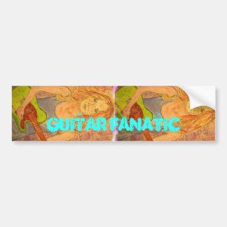 Guitar Fanatic Girl Bumper Sticker