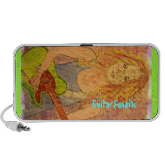 Guitar Fanatic Girl Mini Speaker