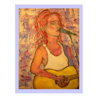 Guitar Fanatic Girl Postcard