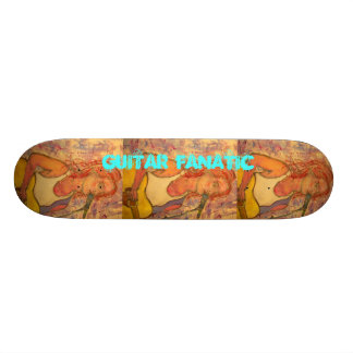 Guitar Fanatic Girl Skate Board