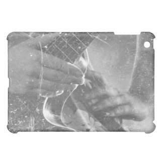 guitar female player hand on hip bw music design case for the iPad mini