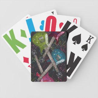 Guitar Fetti  Cards, Copyright Karen J Williams Bicycle Playing Cards