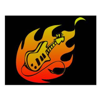 Guitar Fire Postcard
