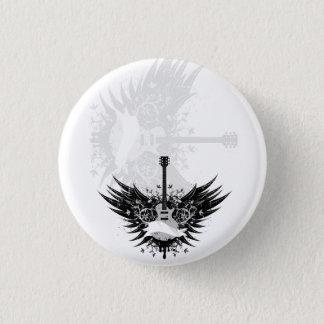Guitar fishing rod (guitars angels) pinback button