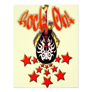 Guitar Flaming con las estrellas rock en diseñ Comunicados