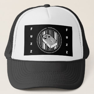 Guitar Fuzz Pedal, Black and White Trucker Hat