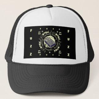 Guitar Fuzz Pedal, Purple & Lite Yellow Collage Trucker Hat