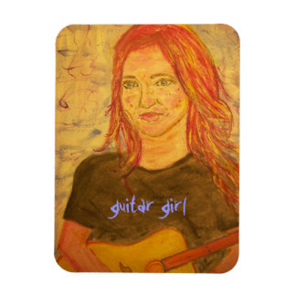guitar girl art magnet