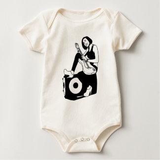 Guitar girl baby bodysuit