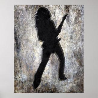 Guitar Girl, Copyright Karen J Williams Poster