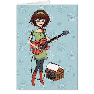 Guitar Girl holiday card