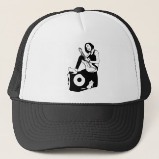 Guitar girl trucker hat