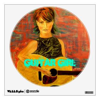 Guitar Girl Wall Sticker