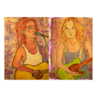 Guitar Girls Large Business Card