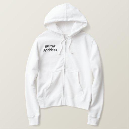 guitar goddess embroidered hoodie
