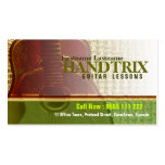 """GUITAR """"Gold Forest"""" Business card"""