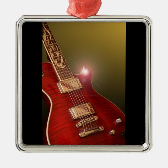 guitar gold metal ornament