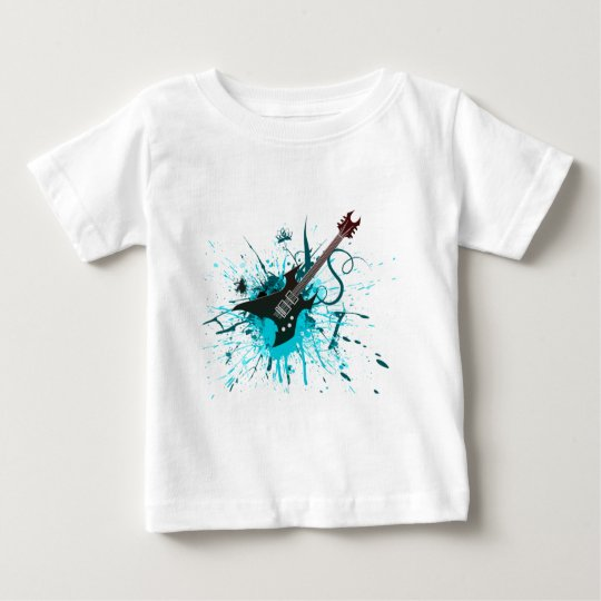Guitar Graffiti - Emo Rock Music Band Alternative Baby T-Shirt