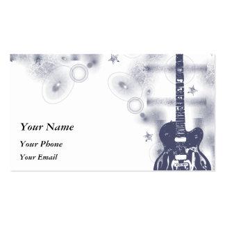 Guitar Graphic Blu Profile Card